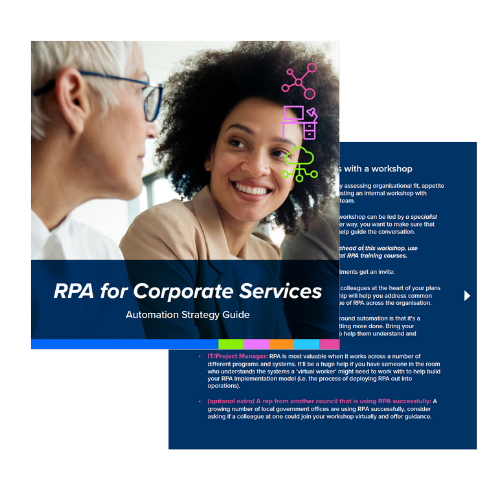 RPA in Corporate Services - strategy guide preview