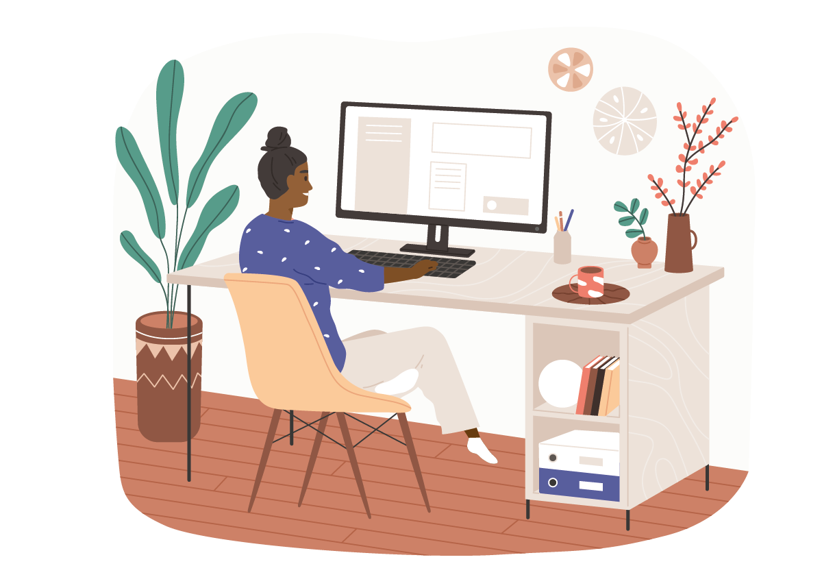 A modern manager uses Workplace Analytics to manage their remote team